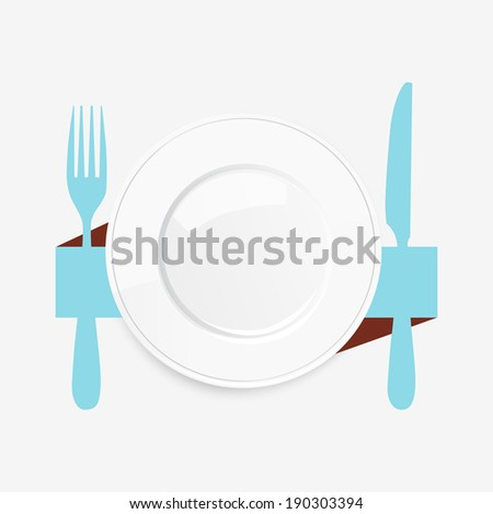 Stock images similar to id 1072135 fork knife red plate for Place setting images