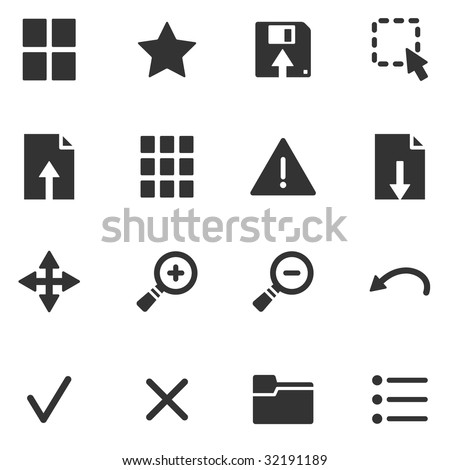 Viewer black web icons - stock vector