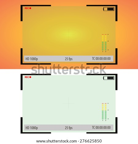 Viewfinder of the camera - stock vector