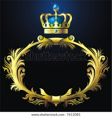 Vignette with crown