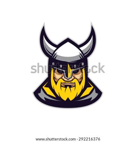 viking mascot logo design vector illustration stock vector