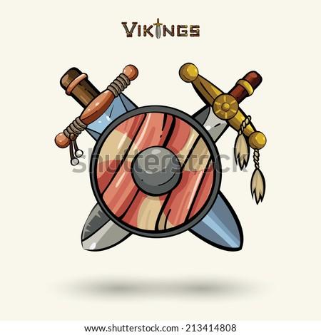 game icons vikings emblem cartoon medieval stock vector 151883264 shutterstock. Black Bedroom Furniture Sets. Home Design Ideas