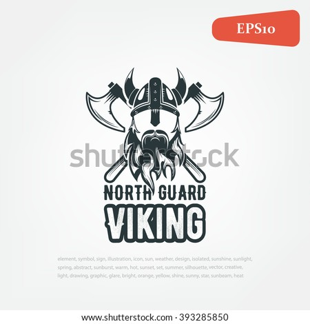 Viking Warrior logo, vector. - stock vector
