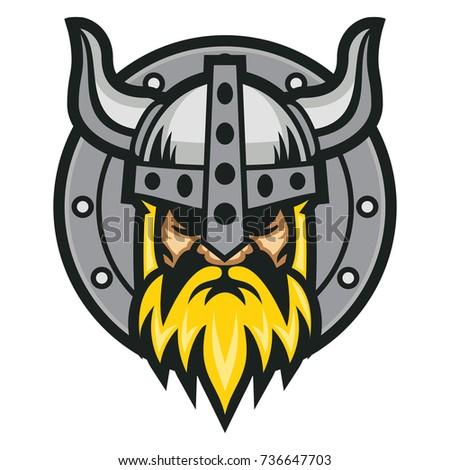Viking Shield Vector Logo Template Stock Vector 736647703 - Shutterstock