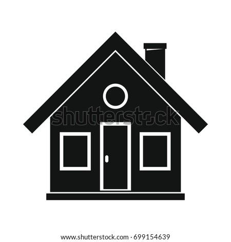 Village House Black Simple Silhouette Icon Stock Vector ...