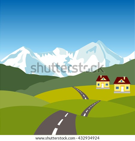 Village in mountain