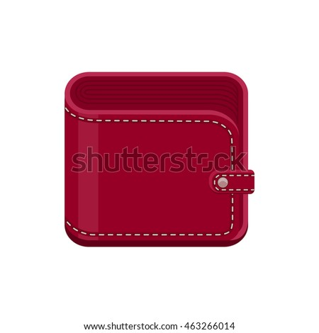 Vinous closed purse. Vector icon isolated on white background.
