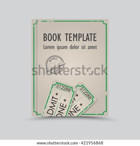 Vintage abstract book template  - stock vector