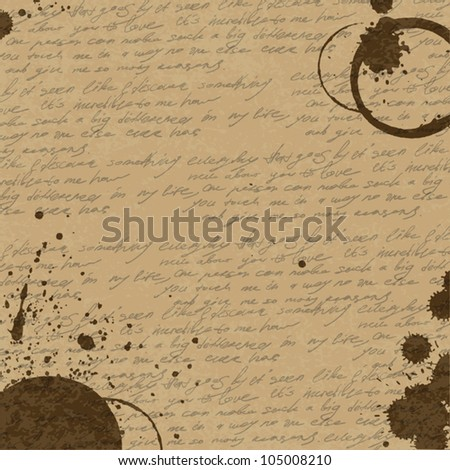 Vintage Abstract Coffee Background, vector, eps10 - stock vector