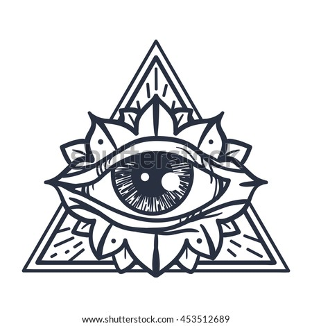 providence magic symbol for print tattoo coloring - Tattoo Coloring Book