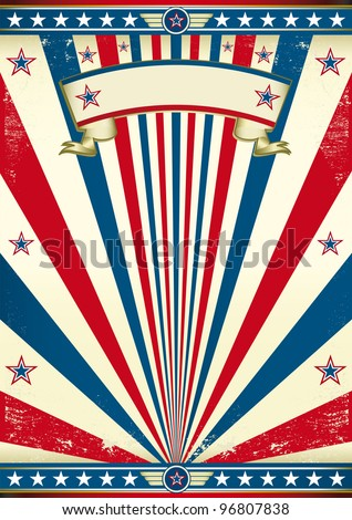 Vintage america. A vintage poster for your message. Enjoy ! - stock vector