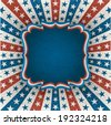 Vintage american background for 4th of july. EPS 10 contains transparency. - stock