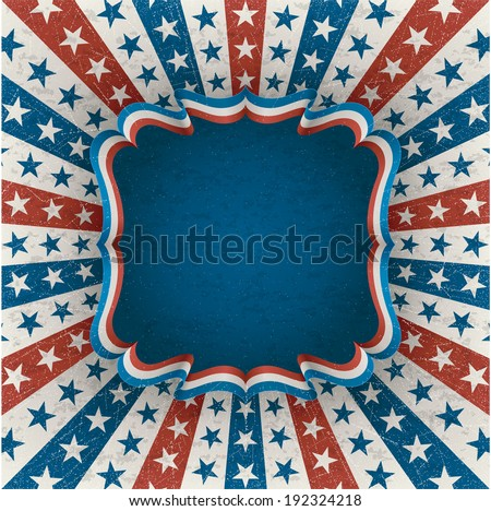 Vintage american background for 4th of july. EPS 10 contains transparency. - stock vector