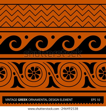 Vintage ancient seamless ornamental floral pattern. Abstract vector background - stock vector