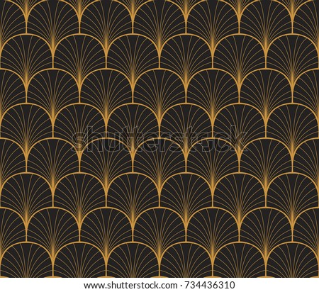 Vintage art deco seamless pattern geometric stock vector 734436310 vintage art deco seamless pattern geometric decorative with circles texture retro background voltagebd Images