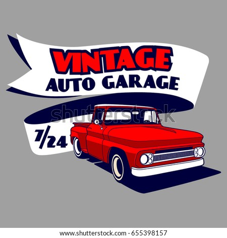 Hot rod garage stock images royalty free images vectors for Garage gdn auto