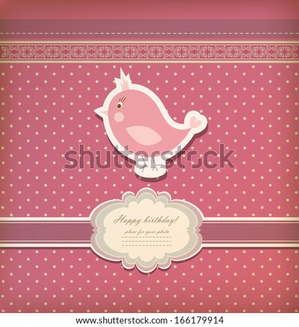 Vintage baby  greeting card vector eps 10 - stock vector