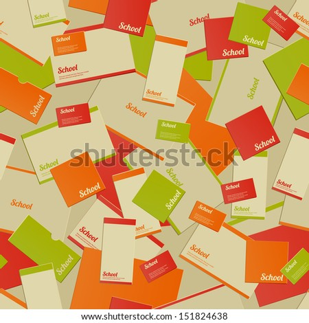 Vintage Back to School seamless pattern - stock vector