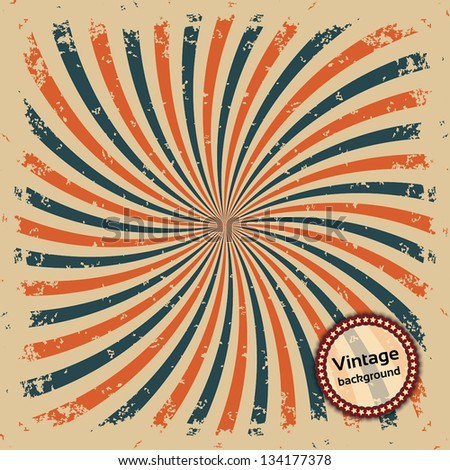 Vintage background. Colorful rays. Vector illustration EPS10 - stock vector