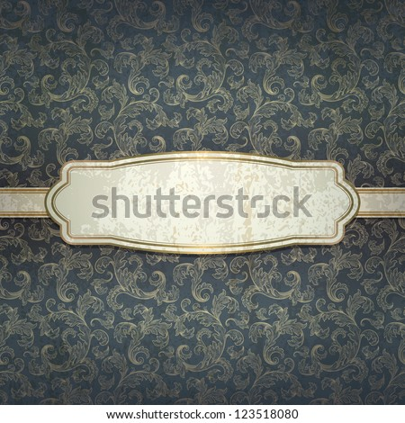 vintage background,  contains transparency objects , also you can use background ornament as seamless pattern ,all elements are located on separate layers and available to editing - stock vector