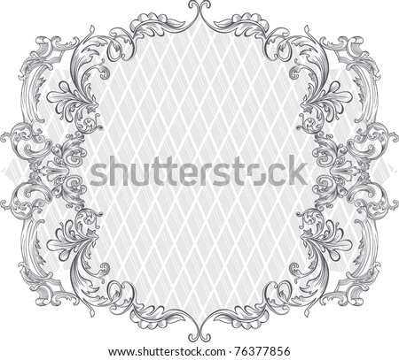 vintage background design - frame - stock vector