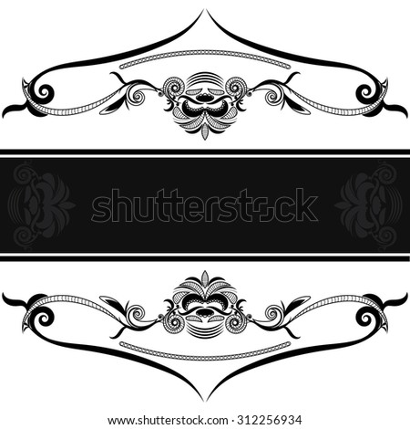 vintage background frame design black vector retro