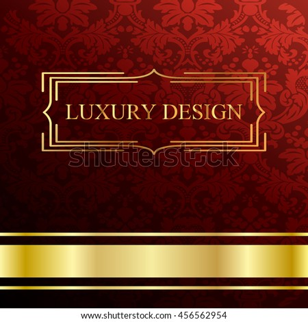 Vintage background, luxury ornamental pattern template for design - stock vector