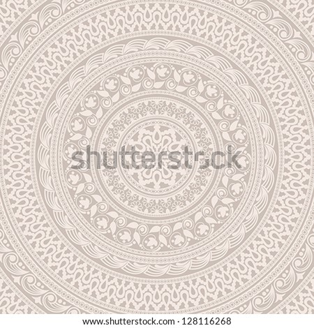 Vintage background made of ornamental pattern. EPS-8. Original author's design, hand-drawn. - stock vector