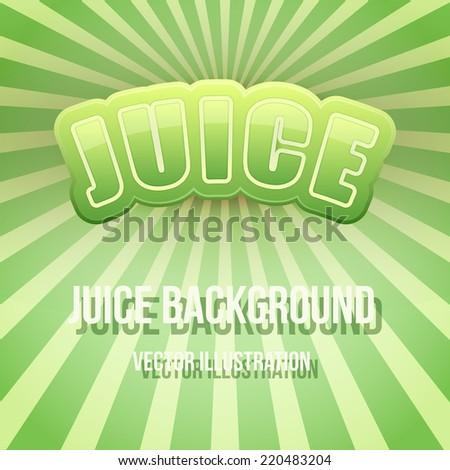 Vintage Background of Label for apple juice. Bright premium quality design. Editable Vector Illustration. - stock vector