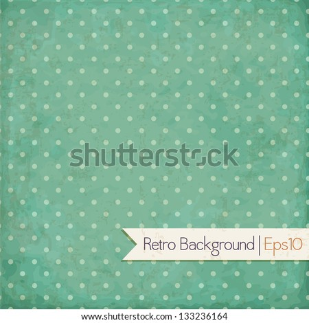 Vintage background. Polka dot design. Vector eps10 - stock vector