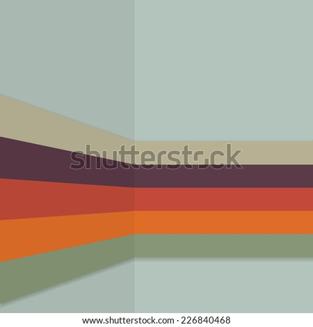 Vintage background retro color themed stripes pattern  - stock vector