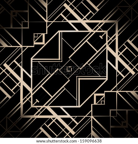 Vintage background. Retro style frame. 1920s  - stock vector