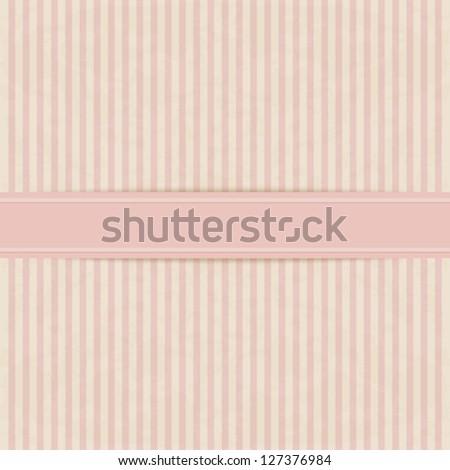 Vintage background. Stripe texture paper - stock vector