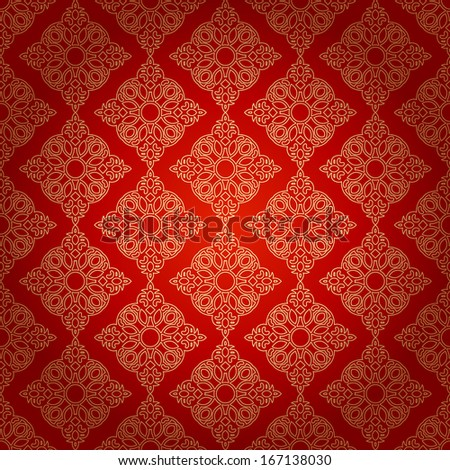 Vintage Background Traditional Ottoman motifs.Decorative colorful seamless pattern in mosaic ethnic style.Vector illustration - stock vector