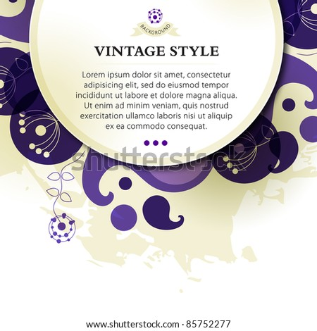 Vintage background – vector illustration eps.10 - stock vector