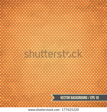 Vintage background with dots pattern and wall texture - stock vector