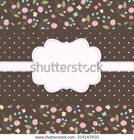 Vintage background with floral pattern for greetings and invitation