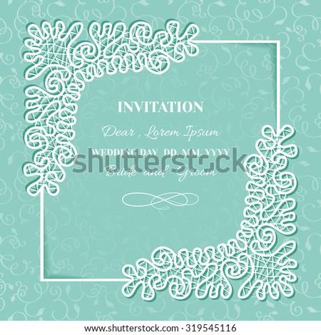 Vintage Background Frame Lace Template Invitation Congratulations ...