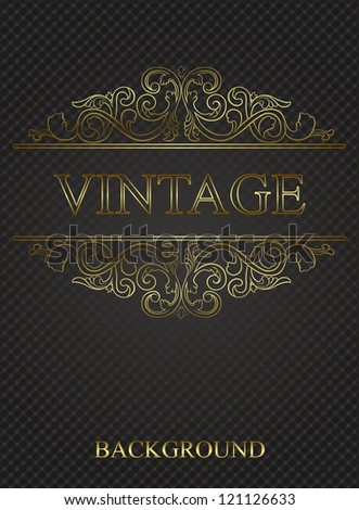 Vintage background with golden elements
