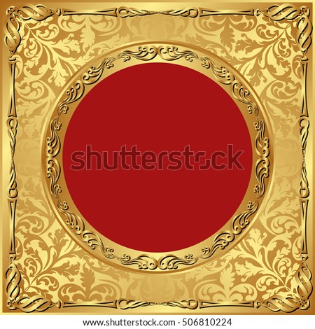 vintage background with golden ornaments