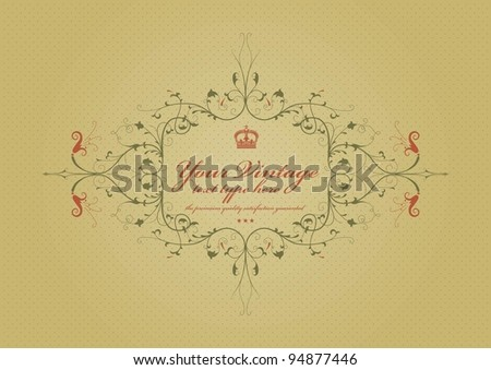 vintage background with ornament - stock vector
