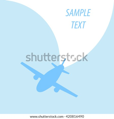 Vintage background with plane. Vector Illustration. - stock vector