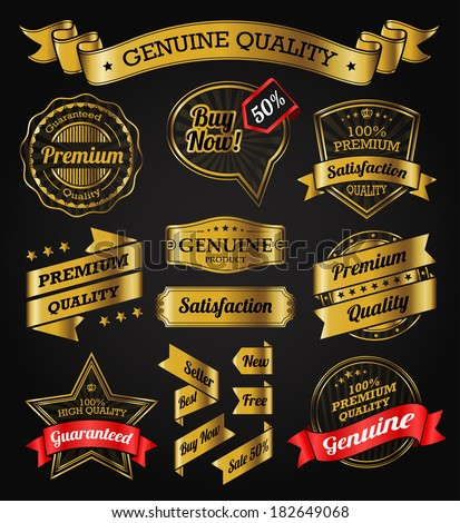 Vintage Badges, Labels and Banners - stock vector