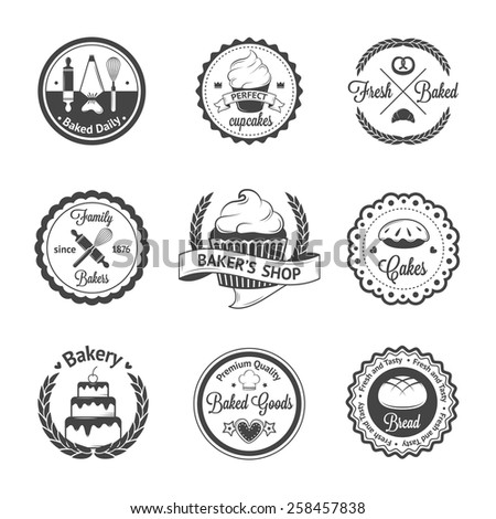 Vintage bakery badges, labels and logos. Vector illustration for your design - stock vector