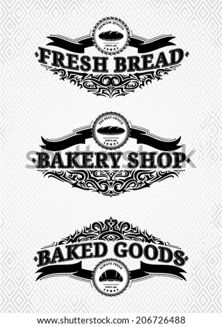 Vintage Bakery Labels Templates