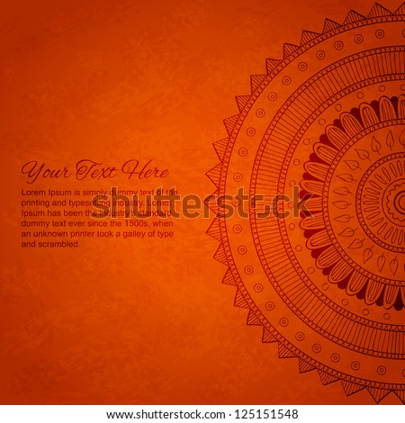 Vintage banner with ornaments. Vector mandala. - stock vector