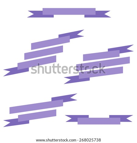 Vintage banners isolated on white background. Vector illustration. - stock vector