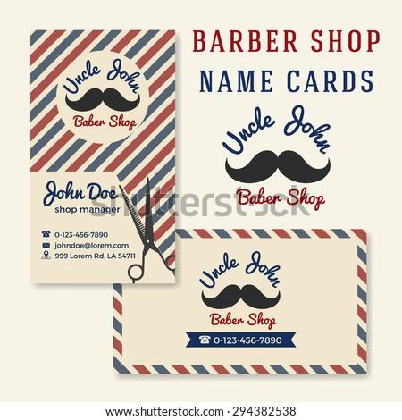 Vintage Barber Shop Business Name Card Stock Vector - Barber shop business card templates