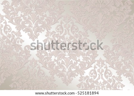 Vintage Baroque damask delicate pattern Imperial style. Vector decor background. Luxury Classic ornament. Royal Victorian texture for wallpapers, textile, fabric. Pink Rose quartz color