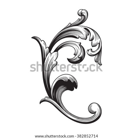 Filigree Swirls Stock Images Royalty Free Images